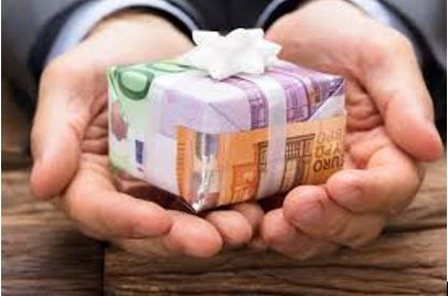 dons de sommes d'argent